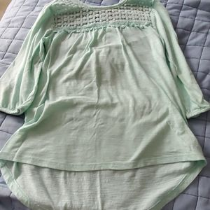 Mint color 3/4 sleeve Top
